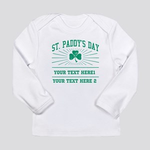 St Paddy's day [editabl Long Sleeve Infant T-Shirt